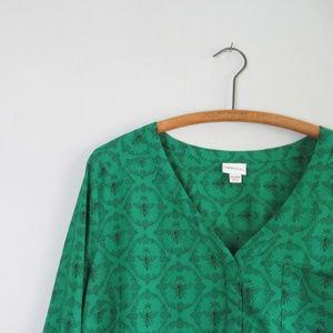 Merona Tops - Merona green queen bee popover blouse